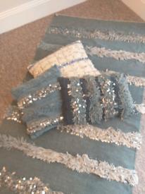 Carpet and pillows