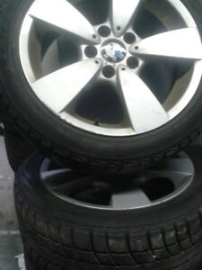 X3/X5  RIMS AND WINTER TIRES GREAT (CONDITION)