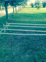Aluminum trailer ladder rack