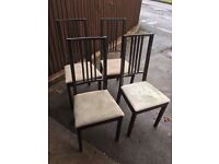 IKEA DINING CHAIRS SHABBY CHIC PROJECT ** FREE DELIVERY AVAILABLE **