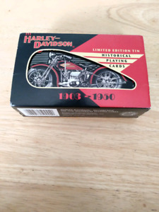 Harley Davidson historical playing cards 1903-1950