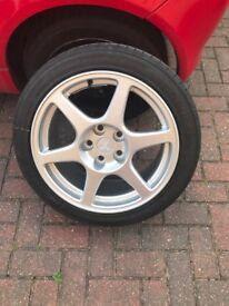 Mitsubishi evo 8 enkei wheels 5x114.3 ep3 jdm Honda