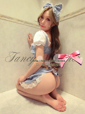 School Girl Uniform Cosplay Womens Sexy Babydoll Cute Student Party, Size S/M