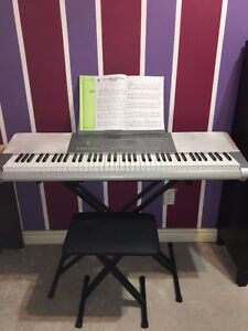 Just like new Electronic Casio Keyboard (Stool included!)