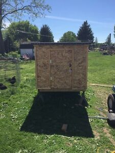 Brand new hand built chicken coop *8 chicks included!!**