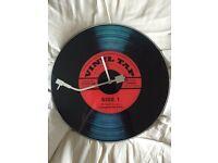 Vinyl tap clock