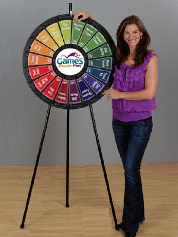 18 Slot Black Floor Stand 31 Inch Prize Wheel
