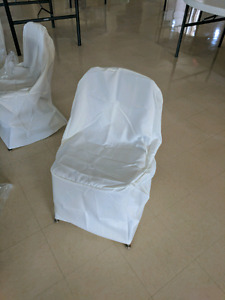 Ivory chair covers!