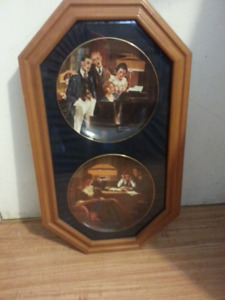 NORMAN  ROCKWELL  PLATES  &  FRAME
