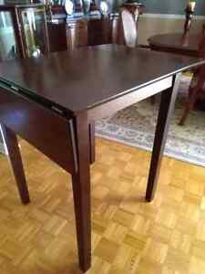 Bar counter height wood expandable table bois