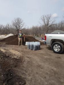 Soil/Gravel/Mulch/Decorative Stone Bags for Sale