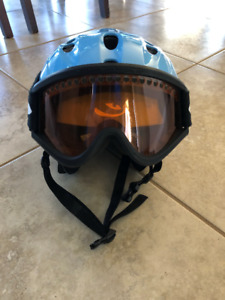 Ski or Snowboard Helmet with Goggles