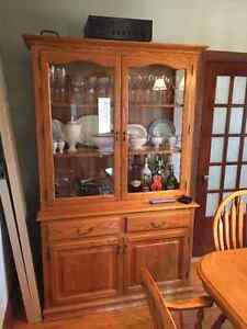 Oak China/display cabinet