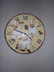Three CHEFS Kitchen Clock