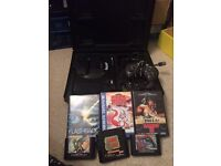 Sega Megadrive games and hard carry case