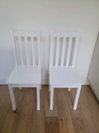 GLTC 2 Nelson White Desk Chairs - fantastic condition