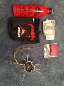 MSR DRAGONFLY STOVE AND FUEL BOTTLE