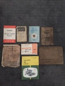 Old Tractor and Vehicle manuals