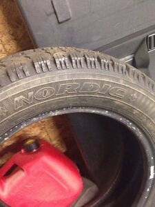 Goodyear Nordic Snow tires 205 55 15 NEW! Only 100 km! Regina Regina Area image 3