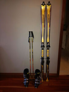 New Atomic downhill Skis Tyrolia Bindings Head Boots Gabel poles Peterborough Peterborough Area image 6