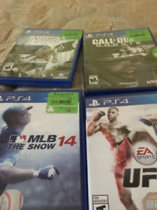 4 PS4 Games MLB 14, UFC, As Creed Black Flag, CoD Ghosts