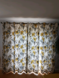 Beautiful John Lewis yellow floral curtains