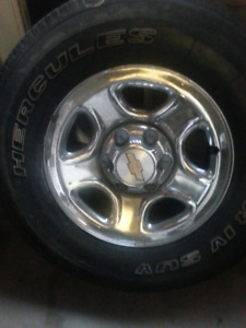 6 bolt Chev wheels and Hercules tires (255/70R16)