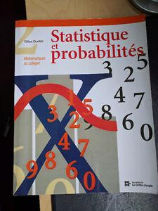 Livre probabilité et statistiques