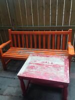 FREE Solid wood table and bench