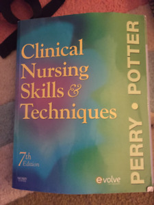 Nursing Textbook for Sale: Clinical nursing Skills & Techniques.