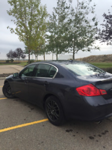 infiniti G 37 X with the set of winter tires