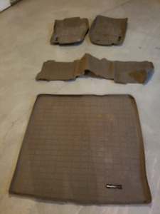 2006 to 2011 Mercedes Benz ML350 and ML550 WeatherTech tan/beige