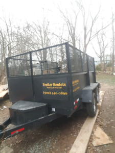 Dump Trailer for Rent. Delivery provided. Junk removal