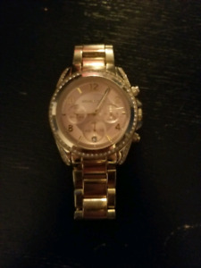 MK rose gold watch