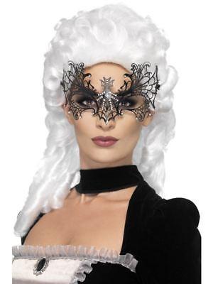 Damen Schwarze Witwe Netz Augenmaske Maskerade Spinne Vampir Halloween Kostüm ()