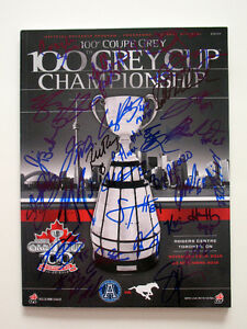 TORONTO ARGONAUTS 2012 GREY CUP GAME DAY SIGNED PROGRAM 100th 20
