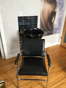 shampoo sink and chair
