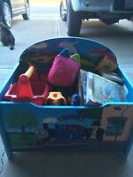 Toy box with a bunch of toya
