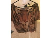Tiger Print Top size 12