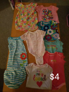 Baby girls summer clothes and sandals