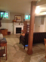 Furnished Bright Basement Apartment
