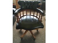 Leather captains chair