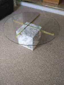 Marble Base Glass Top Coffee and End Tables Kitchener / Waterloo Kitchener Area image 2