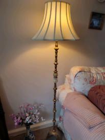 Antique gold floor lamp