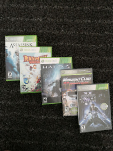 X-Box 360 5 Game Bundle (Compatible with X-Box One and One S)