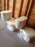 2 used toilets for sale