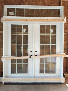 Beautiful glass french doors - never installed 50% off!