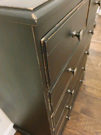 Black Solid Pine Chest of Drawers