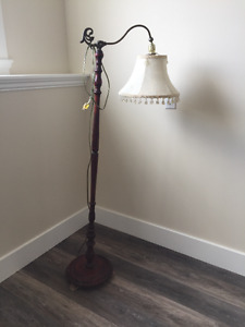 Gorgeous Antique Maple Lamp and Shade