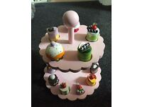 Wooden toy cake stand